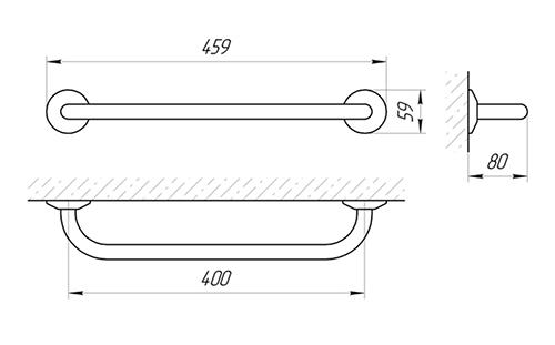 Ручка настенная Laris Стандарт 400