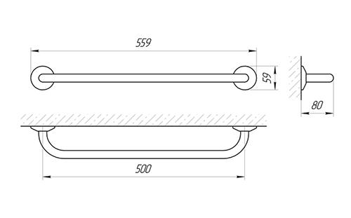 Ручка настенная Laris Стандарт 500